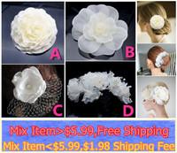 2014 Fashion White  Wedding Bride Flower Headband Bridal Hair Accessories