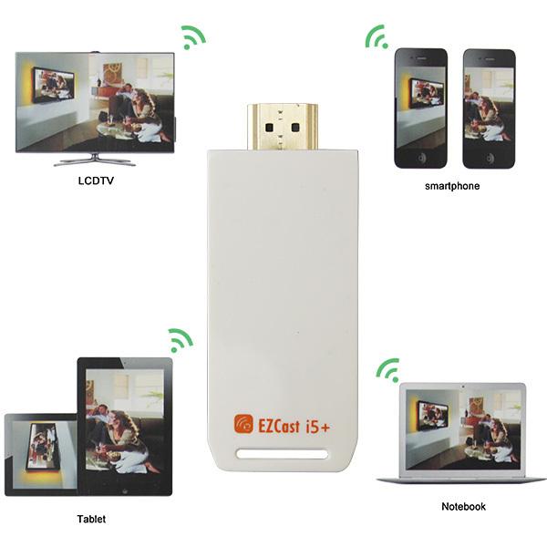 EZcast i5 HDMI 1080p Smart TV vara Miracast DLNA Airplay WiFi visor do receptor dongle(China (Mainland))