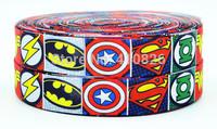 WM ribbon 7/8'' 22mm 140812035  Super hero Cartoon logo printed grosgrain ribbon webbing bows accessory 50yds/roll free shipping
