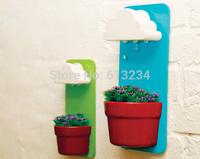 Free Shipping 1Set Rainy Pot / Wall-hung Flowerpot / Wall-hung Cloud Flowerpot