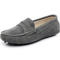 Women's Flat Slip On Driving Car Suede Leather Loafers(More Colors)