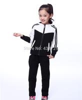 Freeshipping two-piece 2014 autumn new Korean version Children suit,girl Long suit Children fashion Sport suit