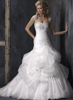 free shipping vintage wedding dresses for bride wedding gowns custom size and color