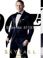 Custom Slim Fit One Button Blue Business Groom Tuxedos/Color Butyl Process Shawl Lapel Groomsmen Men Wedding Suits/men's suit