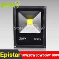 Ultrathin 50W 30W 20W 10W LED Flood Light IP65 Waterproof AC85-265V 1000LM COB poweroutdoor wall Floodlight Lamp,Free Shipping.