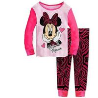 New Arrival 1set=2pcs 100% cotton 8-12 years old kids pajamas long sleeve Fall Winter pajamas sleepwear  2014-8-12  F075