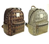 EMS free shipping new 2014 skull rivet backpacks girls PU daily bag women backpack female hip hop bags for teenage girls