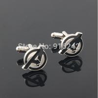 Directly Factory High Quality Rhodium Custom Marvel The Avengers Cufflinks Cuff Links