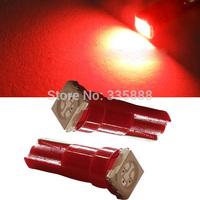 50Pcs/Lot Car Interior LED Light T5 1 SMD 5050 Led Dashboard T5 LED Car Light Bulb Lamp White/Red/Blue/Green/Yellow/Pink