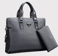 High-Grade PVC Men Handbag Fashion Business Briefcase for Men Casual Man messenger bag shoulder handbag