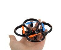 F09364 U207 6 Axis Gyro 4CH Radio Controll Mini RC Quadcopter UFO Toys w/ LED Light Black + Freeship