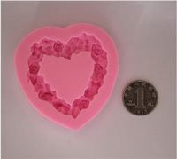 2014 new arrival love garland silicone fondant molds cake chocolate mould free shipping