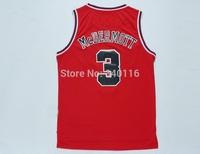 FREE SHIPPING! Chicago basketball jerseys #3 McDermott  jerseys