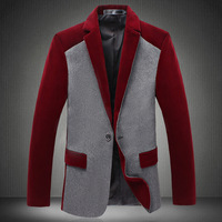 Hot Sale 2014 New Design Mens Blazer Suit Jacket Coats,Casual Slim Fit Stylish Blazers For Men,Plus Size M~ 4xl 5xl 6XL #3619