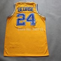FREE SHIPPING! Indiana retro basketball jerseys #24 Paul George jerseys