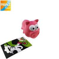 Free Shipping Dog Pet  Squeaky Toy For Pet Dog Chew Toy Small Rubber Squeaky Pig Cute  Puppy Toy