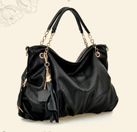 2014 New fashion Free shipping women  PU handbag ruched package LY-HB015