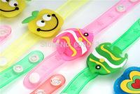 50pcs new  Lighted Toys LED bracelet bracelets wristband jewelry cartoon pumpkin lighting fish Halloween Christmas gift
