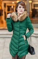90% white duck down winter 2014 new fashion lady Nagymaros collar down jacket , Slim thick padded , free shipping