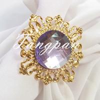 10 gold - Light purple napkin napkin ring  wedding bride wedding shower decorations supper busy bride favored