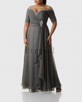 Plus size Chiffon Natural Sweetheart evening Dresses prom party dress elegant Formal Long evening Dress E1395