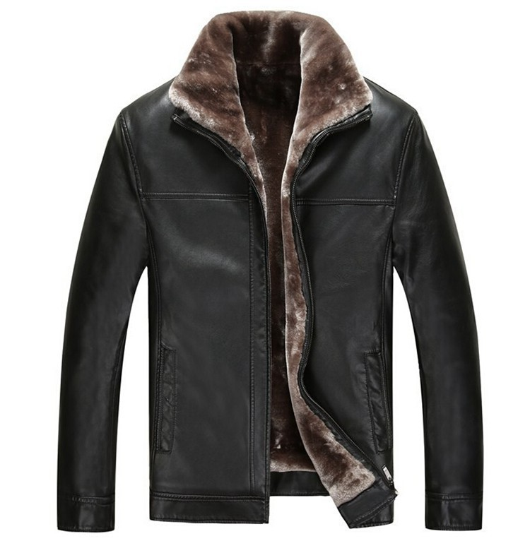 Newest Fashion Warm Winter Genuine Leather Jacket man-made Sheep Skin Lamb Fur Trench Men Coat Zipper Blazer Men Jacket(China (Mainland))