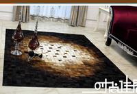 2014 new high quality custom luxury leather living room coffee table carpet tile carpet rug den 140cm x 200cm
