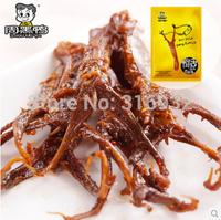 Chinese Special Snack food: vacuum pack leher bebek of Wuhan zhou hei ya duck tongue 225g