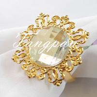 10 gold - Transparent napkin napkin ring  wedding bride wedding shower decorations supper busy bride favored