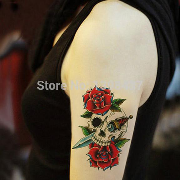 sọ tăng nhãn dán hình xăm hoa mát mẻ cánh tay nhãn dán hình xăm tạm