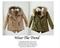 2014 Children's clothing z winter male female child maomao collar overcoat baby berber fleece with a hood outerwear