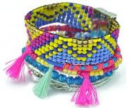 Hot Selling Brazil Hipanema Bracelet with Multi Color Beads Bohemian Style Fashion Jewelry. Women Beach Holiday Hand Wear