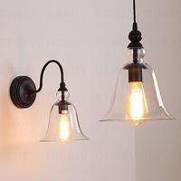 40W Vintage Antique Glass Shade Retro North Village chandelier Set 3pcs