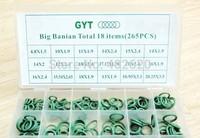 free shipping R134a O-rings/R134a O-ring kit case, seal kits sets