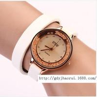 Fashion casual rhinestone chain quartz watch female long leather formalities women's Dress Watches