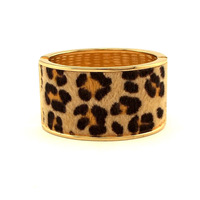 2014 Fashion Golden Alloy Surface Stick Leopard Horsehair Women Spring Open Oval Cuff  Bangle Bracelets Statement Jewelry UB197