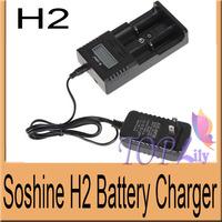 10Pcs/Lot! Soshine H2 Intelligent Battery Universal Charger+Car Charger+USB Cable For Li-ion/LiFePO4/26650/18650/16340/9V/NiMH