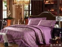 European American style  4pcs Luxurious Jacquard Duvet Cover Set/Silk Comforter Set/Bedding Set/Bed Sheet/Bed Cover /