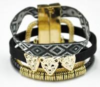 Hot Sale Handmade Black Color Cool Lion Head Brazil Hipanema Bracelets. Wholesale Fashion Women Jewelry Accessories