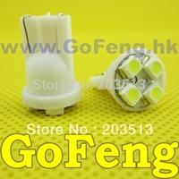 1000pcs/lot Free shipping wholelsaes Car LED light lamp bulb 194 w5w 4smd T10 4 LEDS SMD 3528 1210 white blue red green yellow