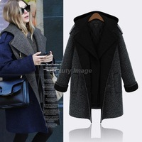 British European and American 6XL Plus Size Winter Coat Hoody Long Thick Warm Coat 2014 fall fashion for women