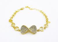 DS023 6pcs/lot Exclusive Style Bracelets Wholesale Bow knot Charm Rose Gold Bracelet Bangles Fashion Jewelry Factory