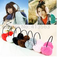 Women Men Winter Ear Warmers Behind The Ear Style Fleece Earmuffs(China (Mainland))