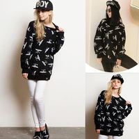 2014 Rope And The United States Explosion Wholesale Women's Eagle Letters Personalized Printing Hoodies Loose Quality Version