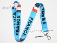 Free Shipping France National Flag Key Lanyard For Party
