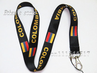 Free Shipping National Colombia Flag Neck Lanyard for party