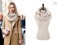 2014 Korean  Unisex Winter knitting Wool Collar Neck Warmer woman Ring Scarf Shawl Scarves