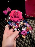 Luxury Perfume Bottle Lanyard Bling Diamond Case For samsung galaxy Nnote 3 Handbag TPU Back Cover 1PCS
