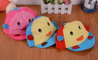 free shipping 2014 E1514 bird children's hat, baseball cap baby baby boys and girls clothing matching