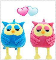 2014 unique owl doll pink blue cartoon kids canvas cute school backpacks for girls boys baby book bags children mochila infantil